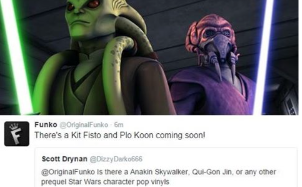 Kit Fisto, Plo Koon and Star Wars Rebels Pop! Vinyls Coming Soon!