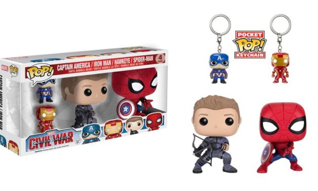 Preview and Pre-order info for the new Civil War Pop! Vinyl 4-Pack