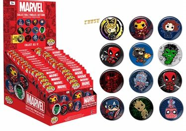 A Look at the new FNAF, Marvel, DC Comics and Star Wars Pop! Buttons