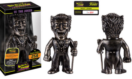 Preview of the new Irony Crazy Joker Hikari Sofubi Vinyl Figure by Funko