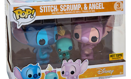 Preview of the new Hot Topic Exclusive Stitch, Scrump and Angel Pop! Vinyl Set!