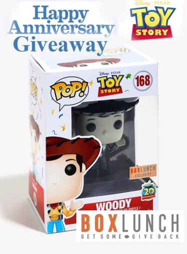 Celebrate Toy Story's 21st Anniversay By Entering to Win a BoxLunch Exclusive Woody Pop Vinyl!