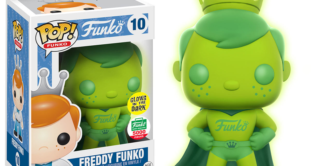 New Funko-Shop.com Exclusive Green Gamma Glow Superhero Freddy Pop! Now Available Online!