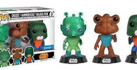 Previews of the new Walmart Exclusive Kenner Toys Cantina Pop! Vinyl 3-pack!