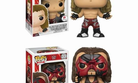 "Previews of the upcoming Walgreens Exclusive WWE Kane and ""HBK"" Shawn Micheals Pop! Vinyls!"