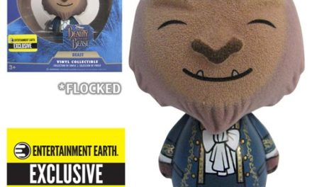 Preview of the new Entertainment Earth Exclusive Beauty and the Beast Flocked Beast Dorbz