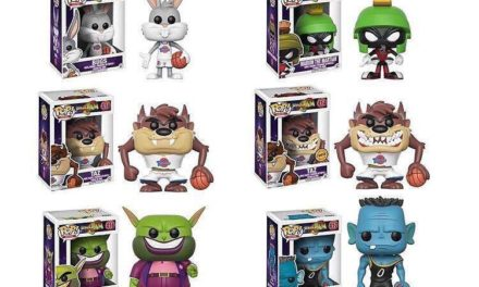 Previews of the upcoming Space Jam Pop! Vinyls