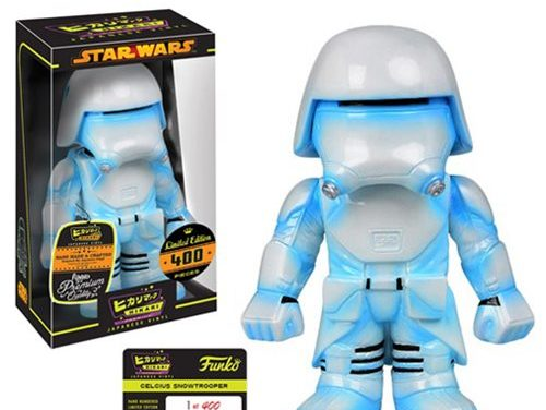 Preview of the new Star Wars Celcius First Order Snowtrooper Hikari Sofubi Vinyl by Funko!