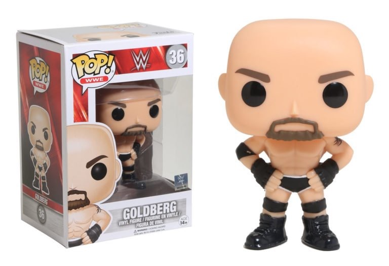 Previews of the upcoming A.J. Styles and Goldberg Pop! Vinyls!