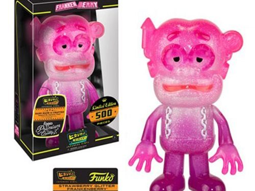 Preview of the new Frankenberry Strawberry Glitter Hikari Vinyl Figure by Funko!