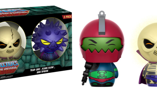 New Funko-Shop Exclusive Masters of the Universe Trap Jaw, Scare Glow and Spikor Dorbz 3-pack Now Available!