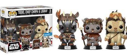 New Walmart Exclusive Ewok and Cloud City Pop! Vinyl 3-Packs Coming Soon!