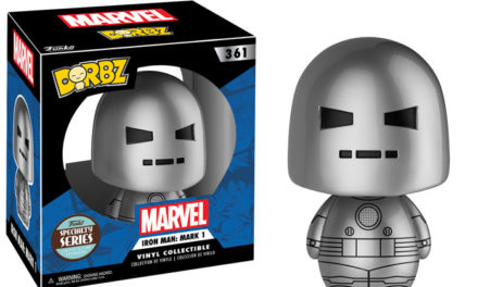 Previews of the new Specialty Series Man-at-Arms Pop! Vinyl and Iron Man Dorbz