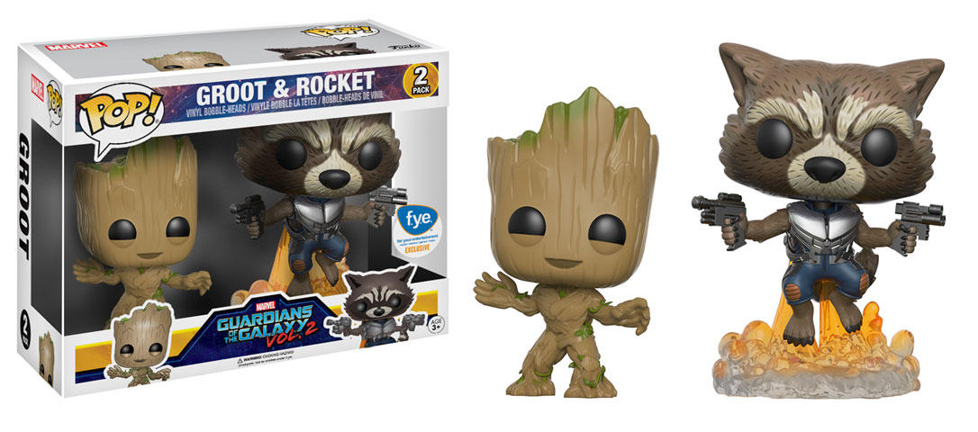 New FYE Exclusive Groot and Rocket Raccoon Pop! Vinyl 2-Pack Now Available for Pre-order!
