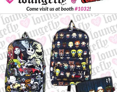 Previews of the upcoming NYCC Loungefly Stranger Things and Nightmare Before Christmas Backpacks!
