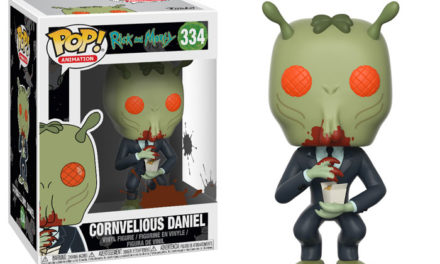 Previews of the upcoming Cornvelious Daniel Pop Vinyl and Target Exclusive Rick and Morty