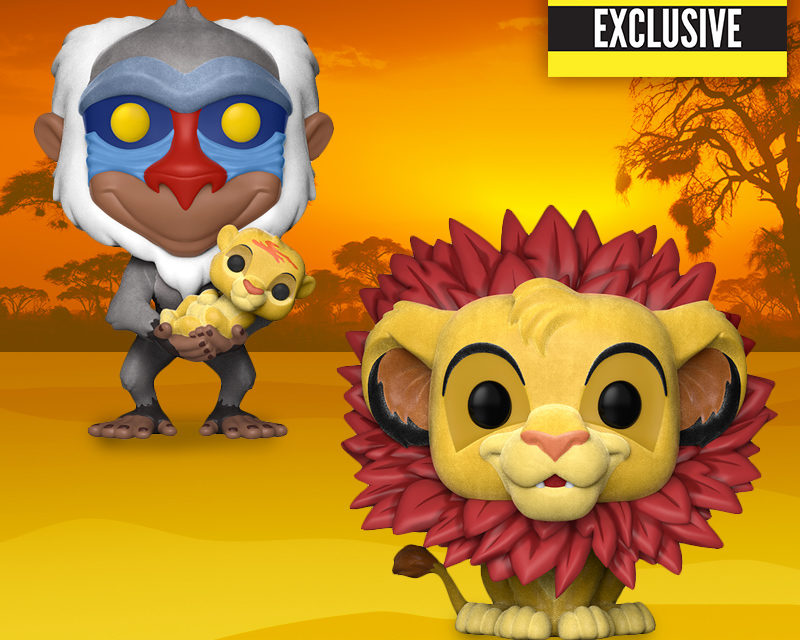 New Entertainment Earth Exclusive Flocked Simba and Rafiki Pop! Vinyls now available!