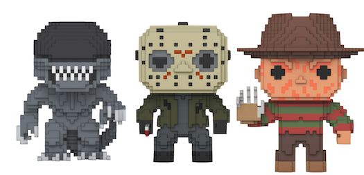 Previews of the upcoming Horror 8-bit Pop! Vinyls!