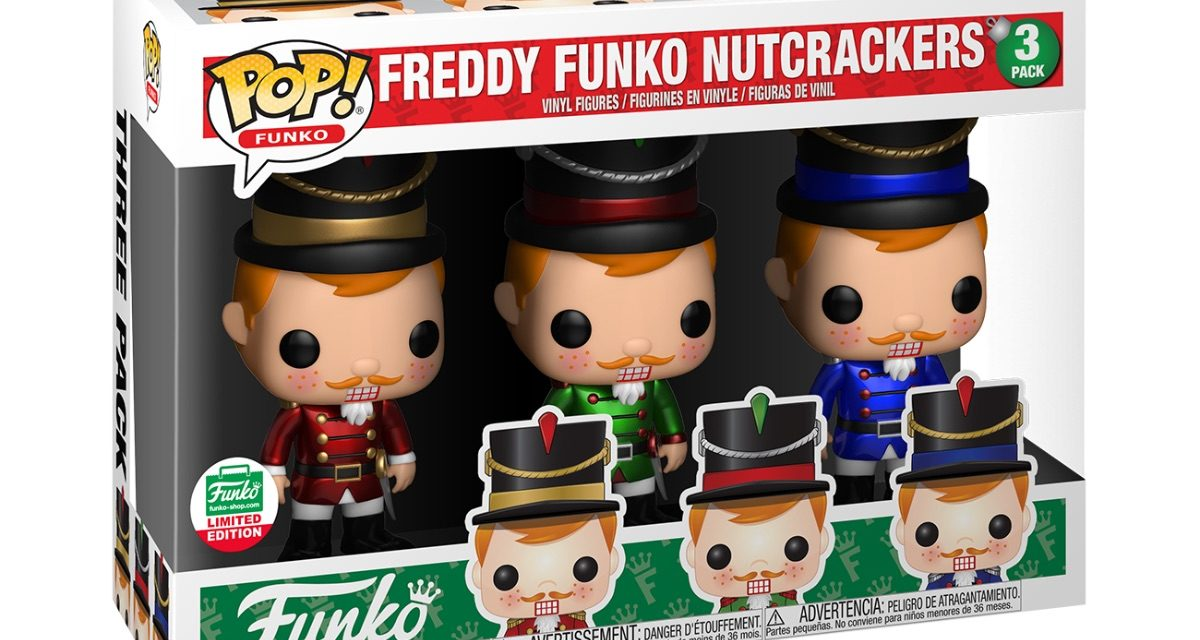 Funko Shop's 12 Days of Christmas Release #3, Nutcracker Freddy Funko Pop! 3-pack, Now Available!