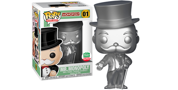 New Funko Shop Exclusive Silver Mr. Monopoly Pop! Vinyl Now Available Online!