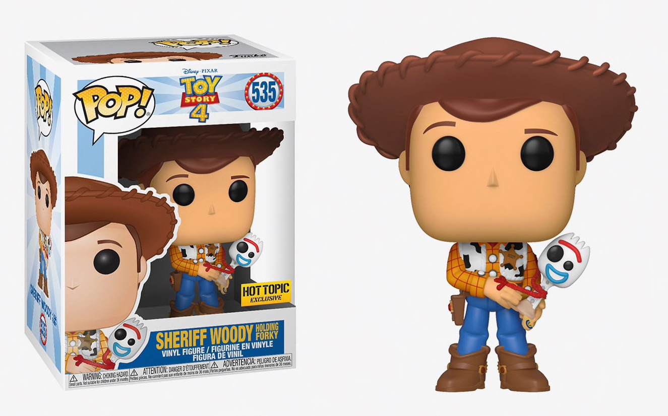 Vinyl Figure ***PRE-ORDER*** Toy Story 4 Sheriff Woody holding Forky Pop