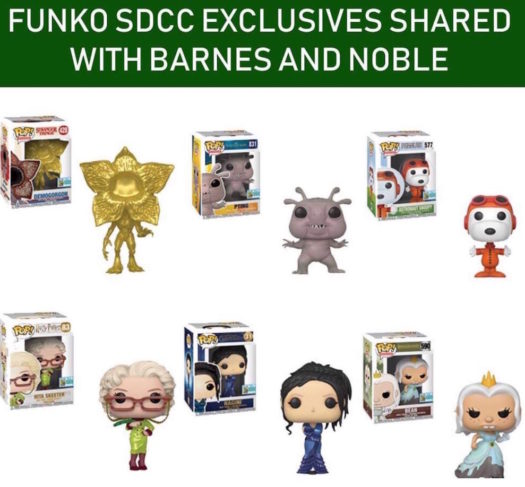 The SDCC Barnes and Noble Shared Exclusives are now