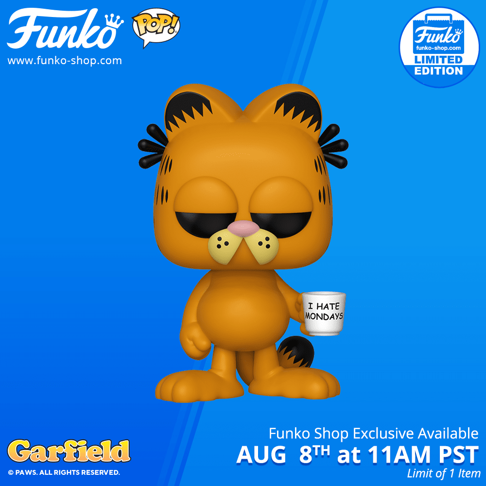 New Funko Shop Exclusive Garfield With Mug Pop Vinyl To Be Released Today Pop Vinyl World